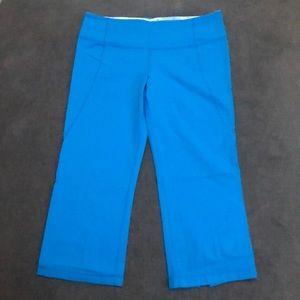 Lululemon blue crop yoga leggings